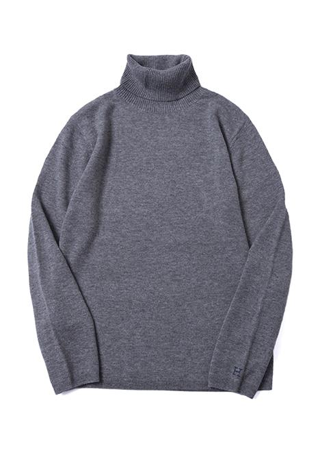 ハリウッドランチマーケット メリノカシミア ウォッシャブルタートルネックセーター