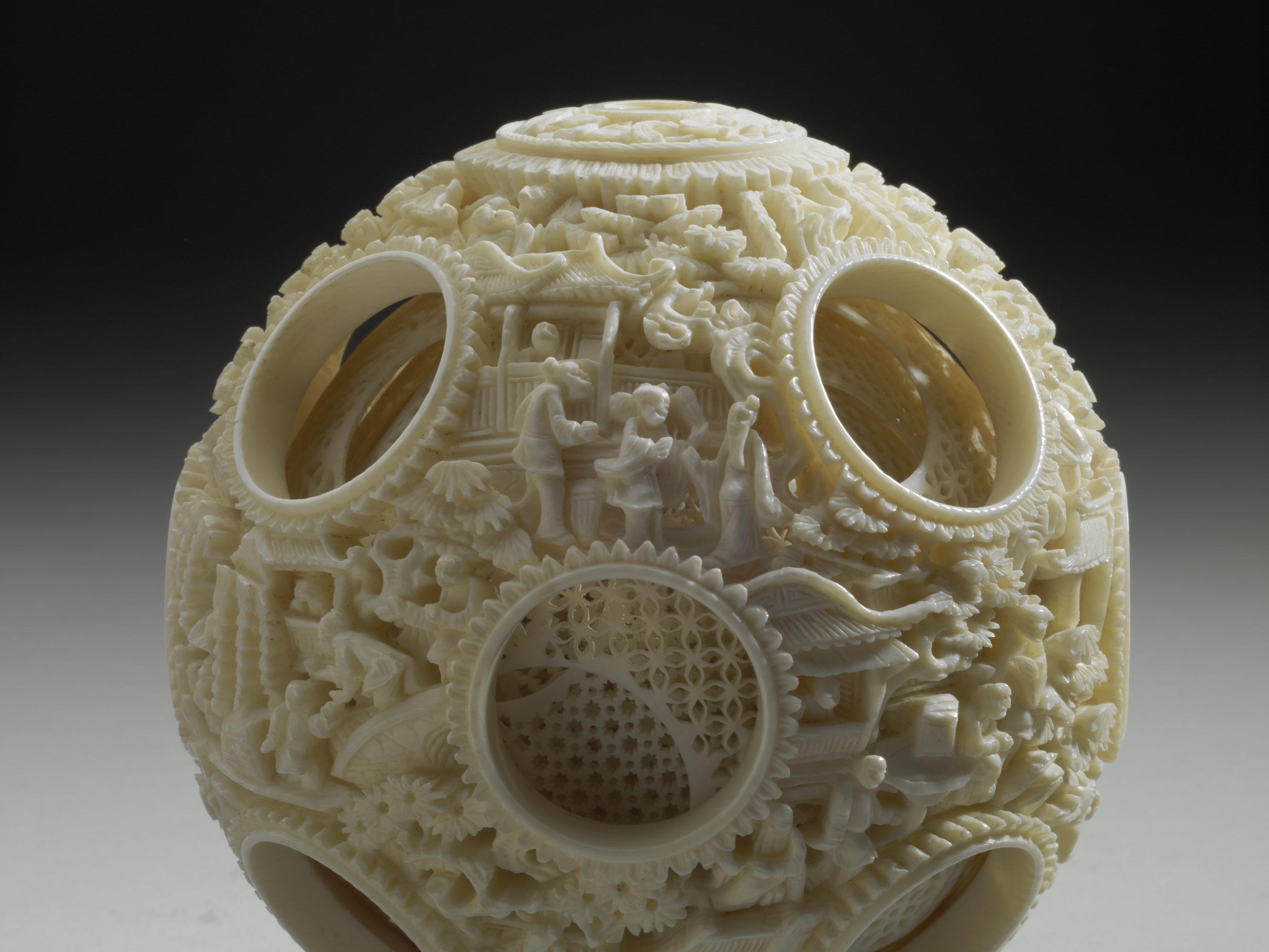 故宮博物館 象牙多層球